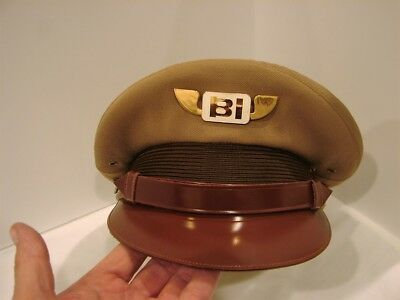 Vintage Braniff International Airways Pilot Cap With Hat Badge Ex. Condition!