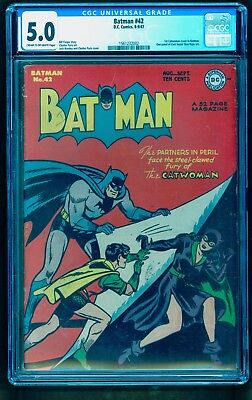 BATMAN 42 CGC 5.0 ** 1st FIRST CATWOMAN COVER ** HOT BOOK !! NO RESERVE AUCTION