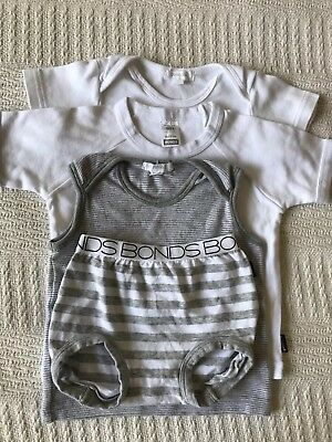 Pure Baby And Bonds T Shirt And Shorts Bundle Boy Girl Size 0 6-12 Months