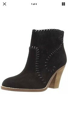Ivanka Trump NEW Mandel Black Suede Leather Ankle Boots 9.5 Retail $165.00