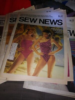 Lot of 24 vintage Sew news newspaper back issues