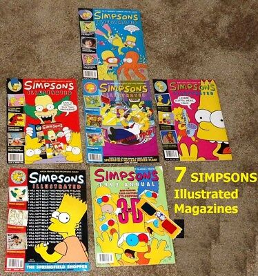 REDUCED PRICE Lot of 7 Simpsons Illustrated PREMIER ISSUE RARE ISSUES 1991 1992