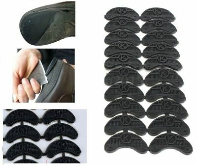 20PCS Rubber Sole Heel Savers Toe Plates Taps DIY Glue on Shoe Repair Pads 3mm