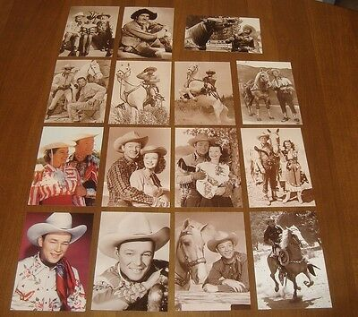 Lot 15 Cowboy Postcards Roy Rogers Lone Ranger Gabby Hayes Licensed Copyrighted