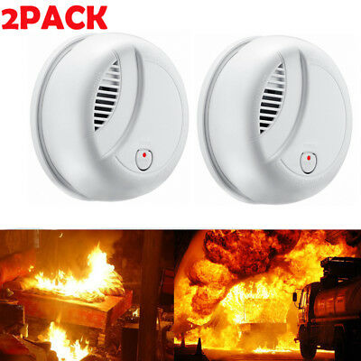 Portable 85dB Smoke Sensor Alarm Fire Detector Home School Hotel Security System