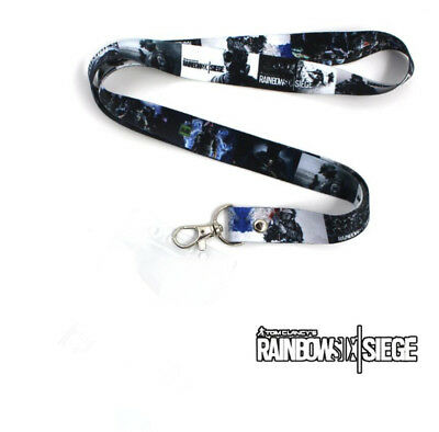 Game Rainbow Six Cell Phone Rope Chain Strap Clip Charm Lanyard Keychain Gift