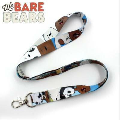 Anime We Bare Bears Grizzy Cell Phone Rope Chain Strap Clip Lanyard Keychain