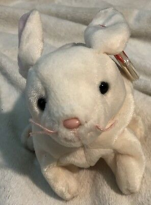 Ty Beanie Baby Nibbler the rabbit Retired Rare With Tag Errors