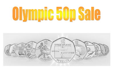 All Olympic 50p's Available! Football (Offside), Judo, Triathlon, Wrestling