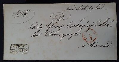 """RARE Undated Poland Pre-stamp Folded  sent from Opatów """"Government Interest"""""""