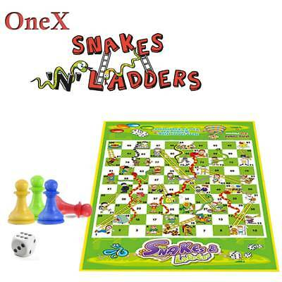 Onex Ludo Snakes & Ladders Game Or Ludo Traditional Family out door Game Gift