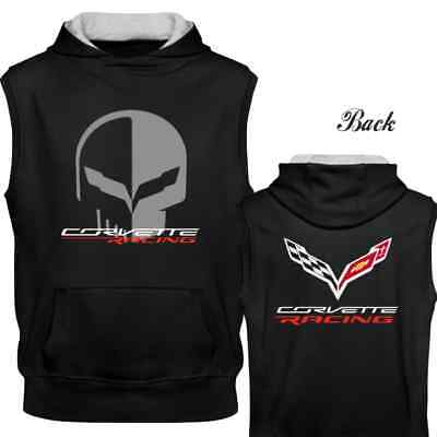 Chevrolet Corvette Racing Jake Skull Sleeveless Hoodie