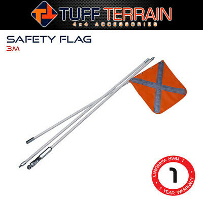 Tuff Terrain Sand Safety Flag 4WD Towing Offroad Touring 4x4 Simpson Desert