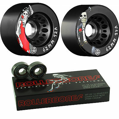 Roller Skate Wheels and Bearings - Day Of The Dead with Rollerbones