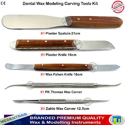 Dental Laboratory Tools Wax Mixing Knives Modelling Amalgam Carvers Spatula 5pcs