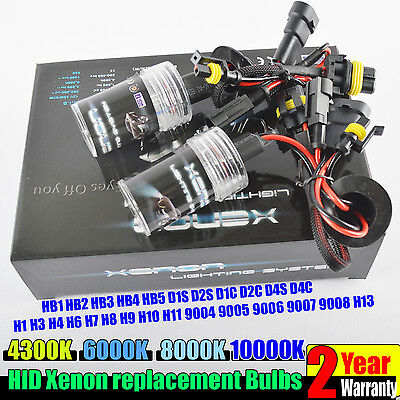 Pair 35W/55W HID Xenon Bulbs Headlight Conversion KIT H1 H3 H4 H7 H11 9005 9006