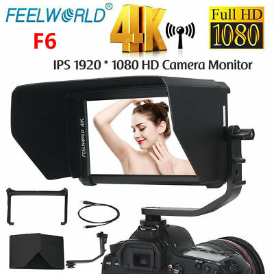 "FEELWORLD F6 5.7"" FULL HD 1080P 16:9 IPS LED Camera Field Video Monitor 4K"
