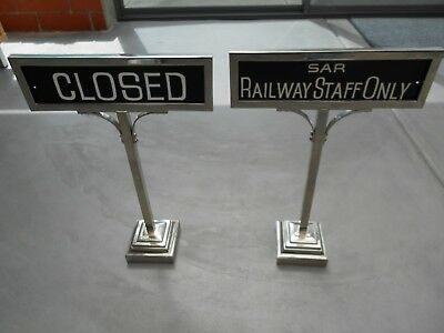 South Australian Railways Adelaide Station Dining Room Signs (2).