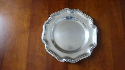 Christofle France. Beautiful antique Silverplate round dish tray. Louis XV style