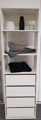 NEW Built in cabinets Wardrobe towers organisers 4 draws shelves inserts