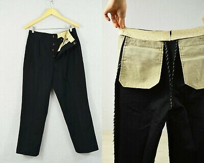 Vintage 1920s Style Japanese Suit Trousers Black Tie Evening Dinner - All Sizes