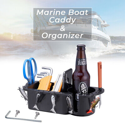 Marine Boat Storage Caddy Tackle Drink Cup Holder Phone Fishing Bait Holder