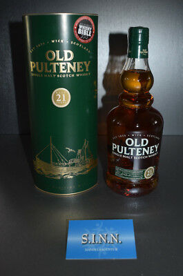 Old Pulteney 21 Jahre Single Malt Scotch Whisky 700ml, 46%VOL. in Geschenkbox