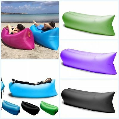 Outdoor Lazy Inflatable Couch Air Sleeping Sofa Lounger Camping Bed Portable OY