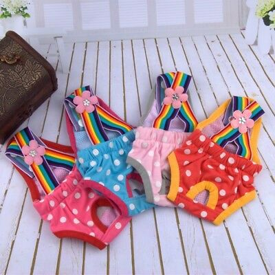 Pet Dog Physiological Pant Female Puppy Cotton Suspender Sanitary Nappy Diaper