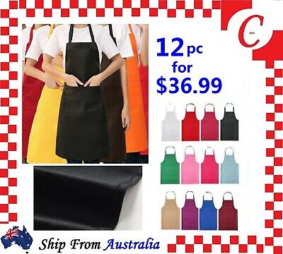 Apron Washable Water Proof Waiter Pocket Butcher Chef Kitchen Cooking Bulk New