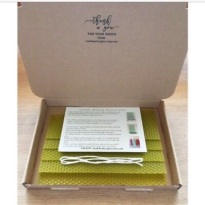 Beeswax Candle Making Kit, 5 Beeswax sheets, Instruction Wick, Olive Green Wax