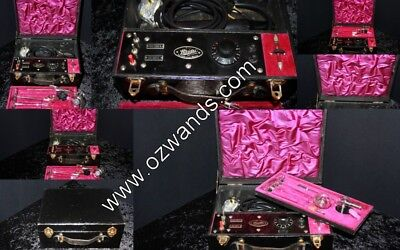 Violet Wand Ray Vintage Haider Compact Set BDSM Fetish High Frequency Device Ref