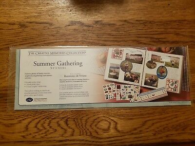 NEW Creative Memories SUMMER GATHERING STICKERS PACK