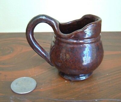 1947 RR Stahl Pottery Redware Miniature Pitcher - Powder Valley Pa