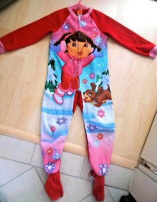 Fleece-Jumpsuit ♡ Dora - sprechende Dora- Gr. 110,116= 5 + 6  Y ♡ the EXPLORER ♡
