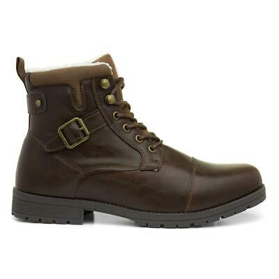 Beckett Mens Brown Lace Up Combat Boot - Sizes 6,7,8,9,10,11,12
