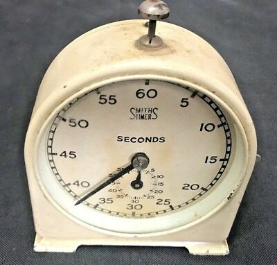 Smiths vintage start stop seconds/minutes darkroom clock timer