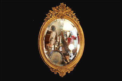 Miroir ovale Napoléon III, bois et stuc doré / Mirror in wood and stucco gilded