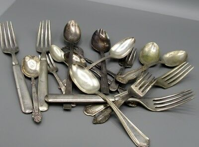 Vintage Lot Silverplate  Flatware  Community Rogers ALPACCA Oneida Holmes Edward