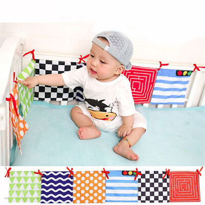 Baby Bed Bumper Crib Cloth Book Around Soft Plush Educational Cot Animal Z