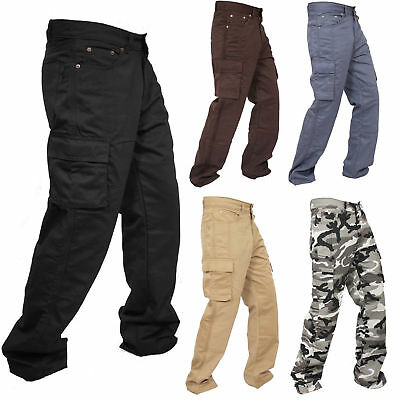 New Motorcycle Working Cargo Trousers Jeans Pants With Aramid Protective Lining