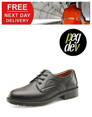 Safety Footwear Black Managers Formal Shoe Sizes 6-12 Hgsw2010Bs