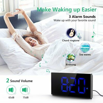 "2"" LED Projection Alarm Clock FM Ceiling Snooze Clock Dual Alarm Adjustable"