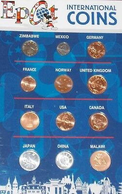 NEW Walt Disney World Epcot International Coins Uncirculated Collectible Vintage