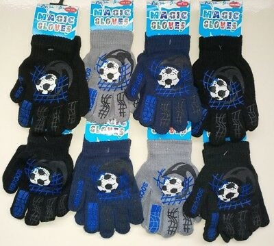 KIDS Magic Gloves Pair Winter Warm Girls Boys Gripper Black Soft Children Unisex