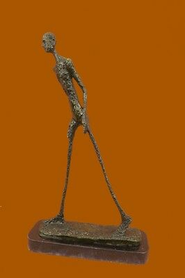 Handcrafted Made by Lost Wax Gia Bronze Sculpture Walking Man Figurine Figure