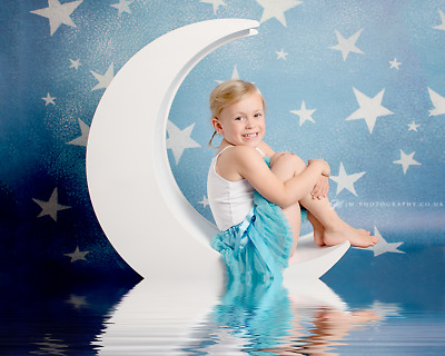 Large Wooden Moon Kids Baby Photography Prop