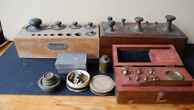 vintage scale weights of varies weights Henry Troemner and Central Scientific .