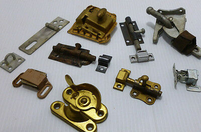 Lot of Random Slide Latches Jelly Cupboard Curio Cabinet Turn Latch Sash Lock +