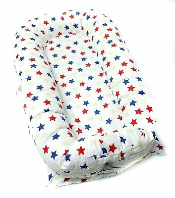 Valsonix Baby Nest Cover [fits Dockatot Deluxe+] (Red/White/Blue)